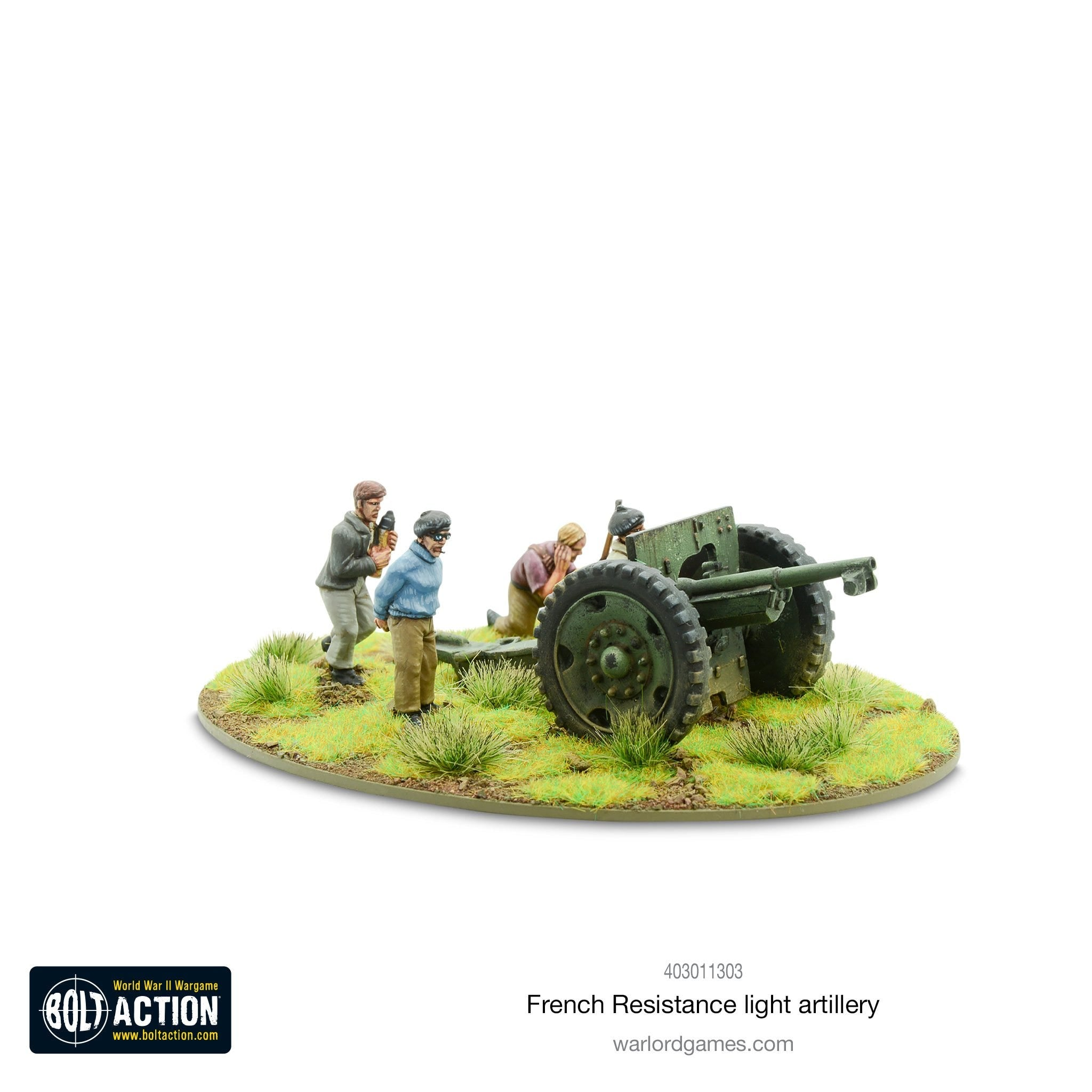 Bolt Action French Resistance Light Artillery | High Tide Games