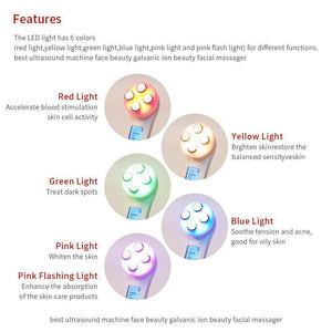 5-in-1 RF EMS LED Light Therapy For Acne Skin Tightening