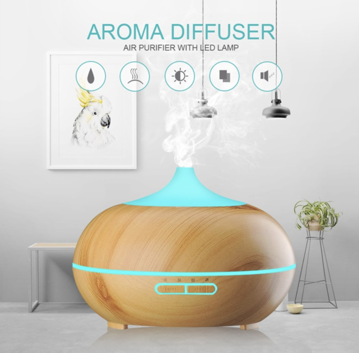 550ml Air Diffuser - Aroma Humidifier with Remote Control