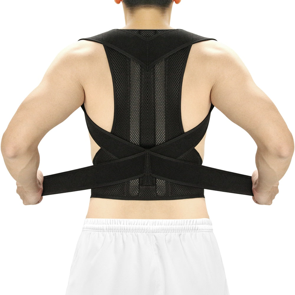 Adjustable Posture Corrector With Back Brace and Spine Support Belt