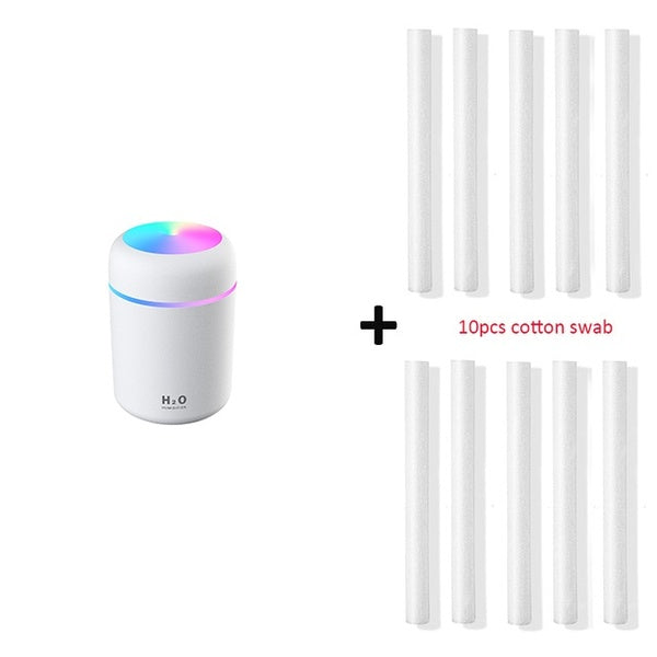 Portable H2O Air Humidifier & Purifier 300ml