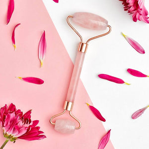 Rose Quartz Face Massage Roller