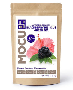 Blackberry Hibiscus Matcha Green Tea Boost (Without Chia)
