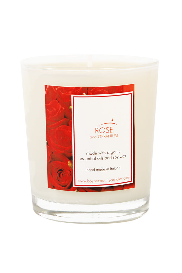Rose Geranium Essential Oil Candle 30cl