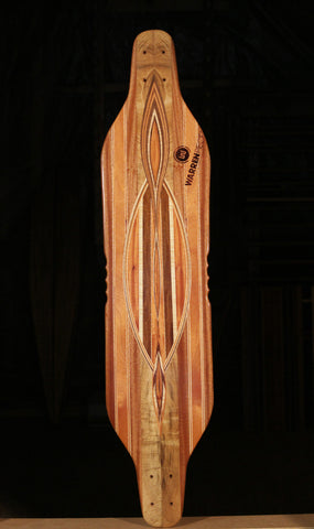 "Warren Pieces Bottlenose Skateboard ""The Deep"""