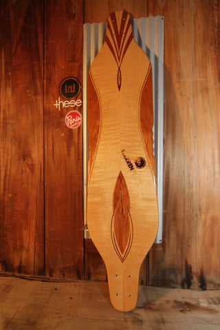 "Warren Pieces Bottlenose Skateboard ""cherry wings"""