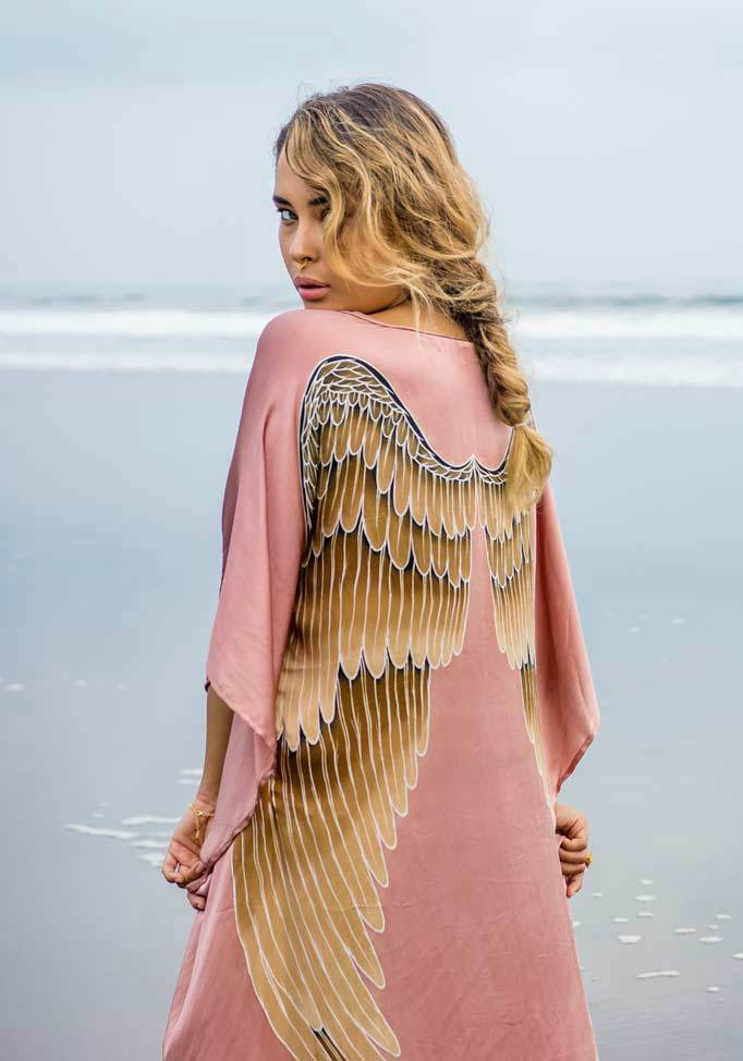 Short & Long Angel Wing Kaftan Luxe