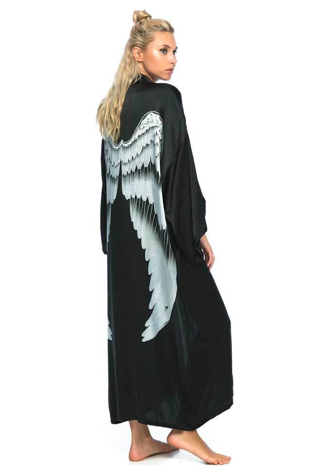 Black with Silver Wings