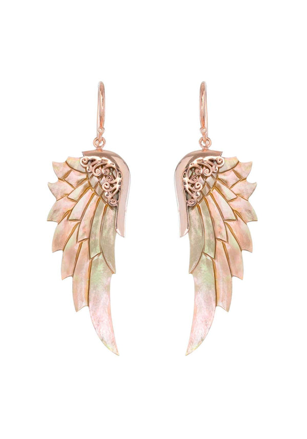 RAINBOW LOVE WINGS ROSE GOLD