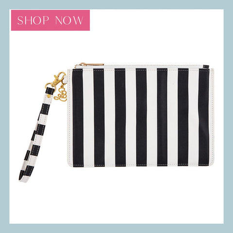 Shop our cabana stripe wristlet