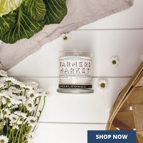 Spring gifts like this Farmer's Market Candle