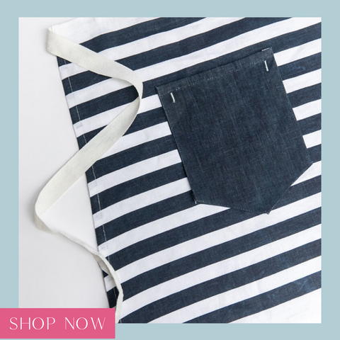 Shop our navy waist apron