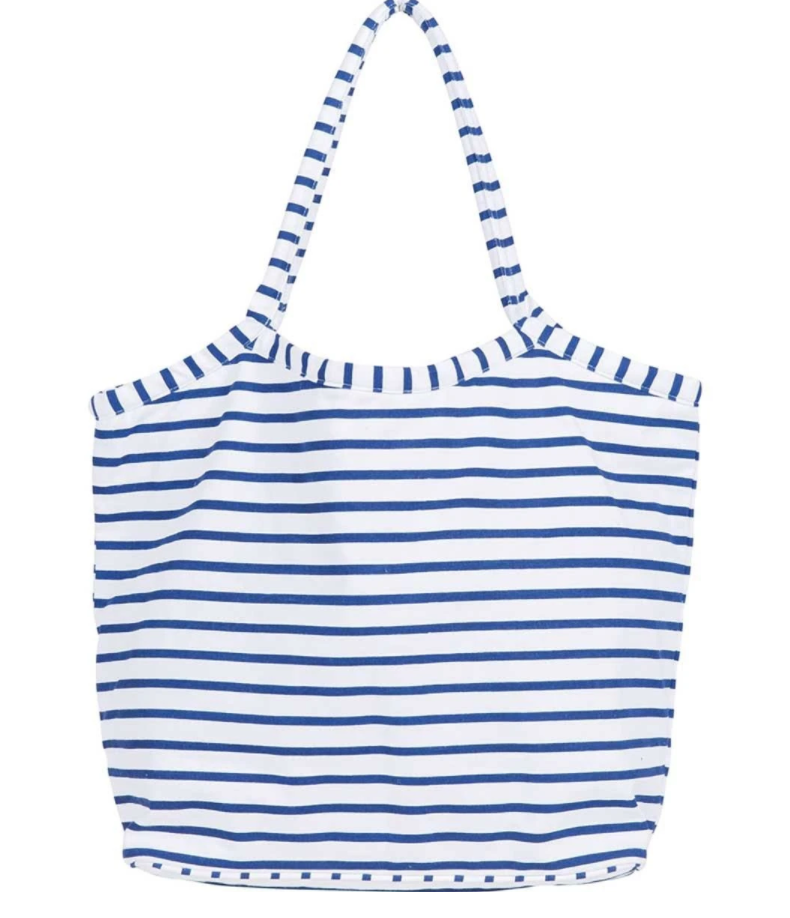 Bucket Bag - Bateau Stripe Navy-White Pier Gifts