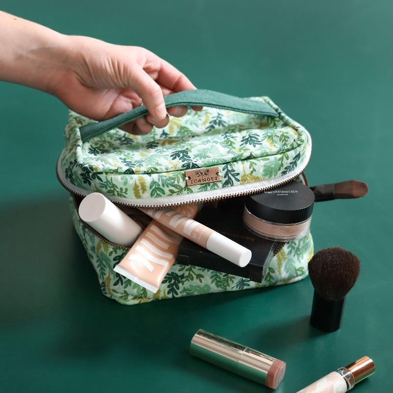 Cosmetic Pouch - Mint Meadow-White Pier Gifts
