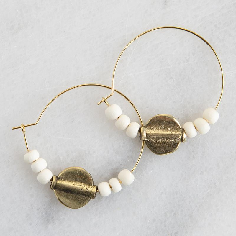 Ember Hoop Earrings - 5 color options-White Pier Gifts