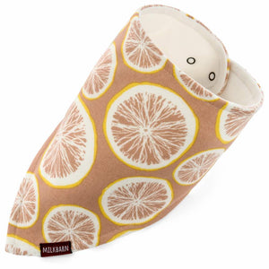 Kerchief Bib - Grapefruit by Milkbarn