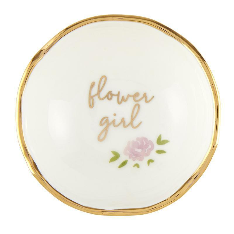 Jewelry Dish - Flower Girl-White Pier Gifts