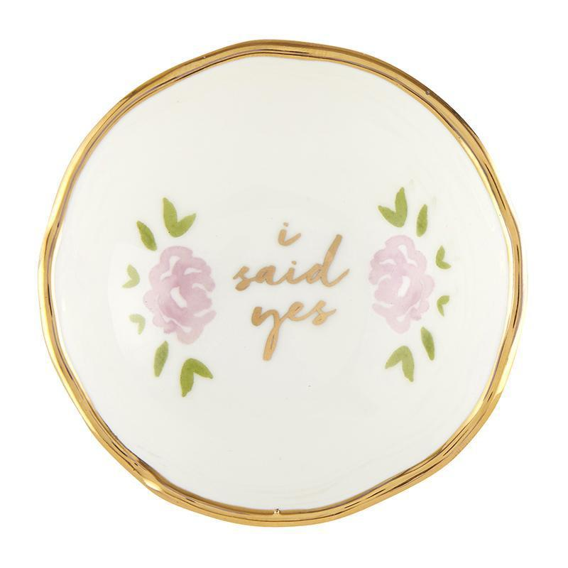 Jewelry Dish - I Said Yes-White Pier Gifts