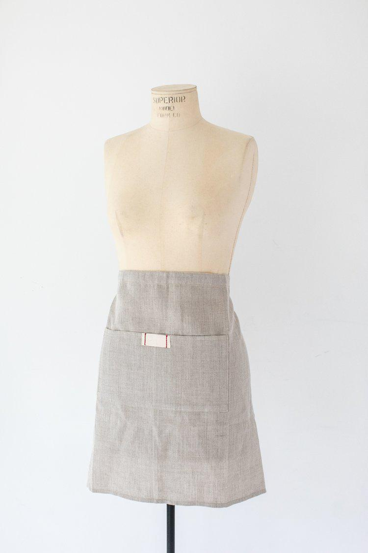 Linen Waist Apron by Heirloomed Collection-White Pier Gifts