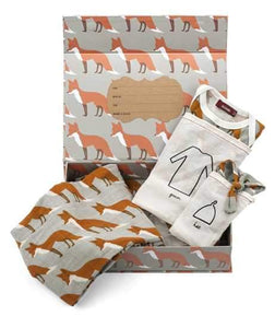 Newborn Keepsake Set - Orange Fox by Milkbarn-White Pier Gifts