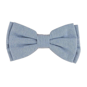 Pet Bow Tie - Chambray-White Pier Gifts