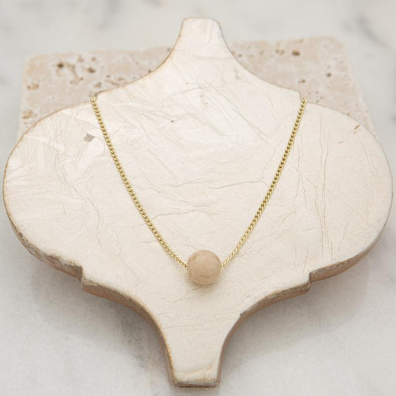 Tiny Bubble Necklace - 5 Color Options-White Pier Gifts
