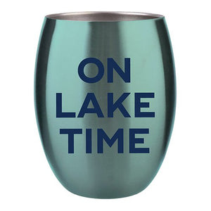 Stainless Steel Tumbler - On Lake Time