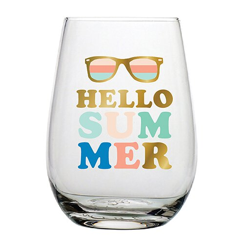 Wine Glass - Hello  Summer