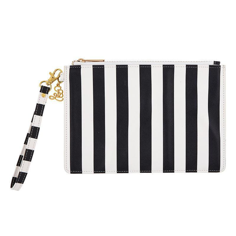 Wristlet Pouch - Cabana Stripe-White Pier Gifts