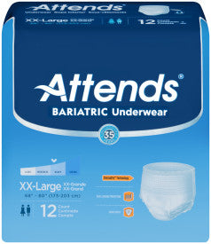 Attends Bariatric Underwear - Case Quantity