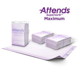 "Attends All-in-One Maximum Premium Underpads, 30""x36"" - Case (12 Bags of 5)"