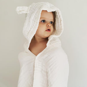 DOVE AND DOVELET - ORGANIC COTTON HOODED TOWEL WITH EARS