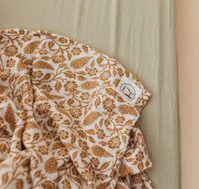 Load image into Gallery viewer, BABY SWADDLE/WRAP - ORGANIC BAMBOO MUSLIN - GINGER BOHO