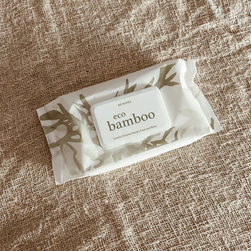 ECO Bamboo Biodegradable Wipes - 80 Pack - Preorder