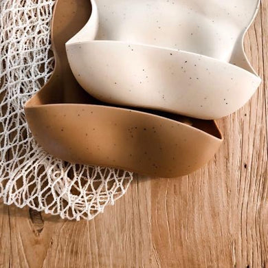 DOVE AND DOVELET - SILICONE BIB - SPECKLED CLAY