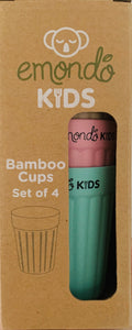 ECO CUPS (SET OF 4) - BAMBOO DINNERWARE