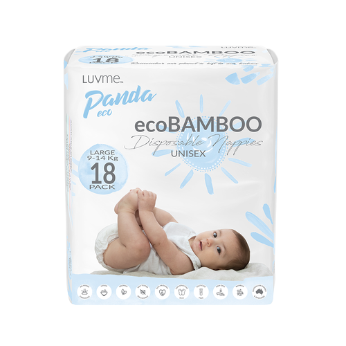 LUV ME ECO PANDA BAMBOO NAPPIES - LARGE 9-14KG