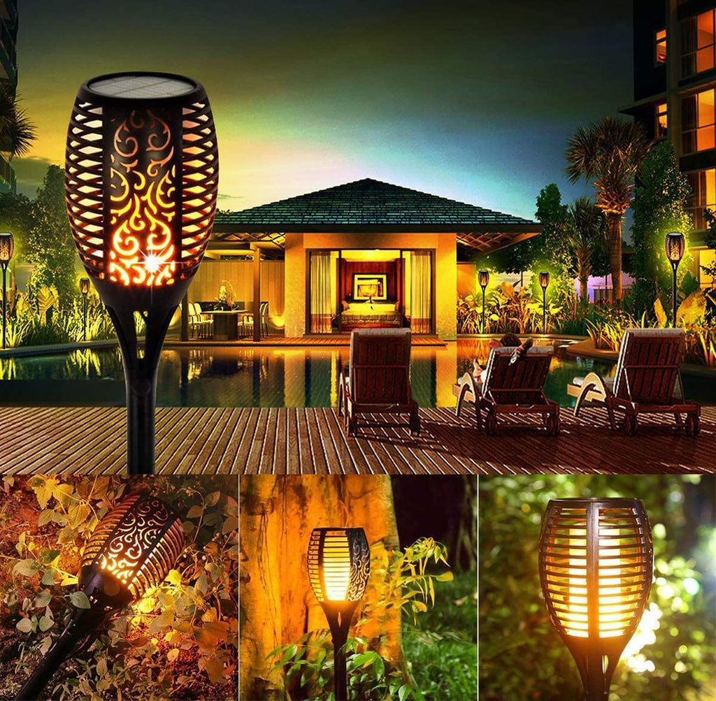 LED Waterproof Solar Flame Lights(Buy More Save More)