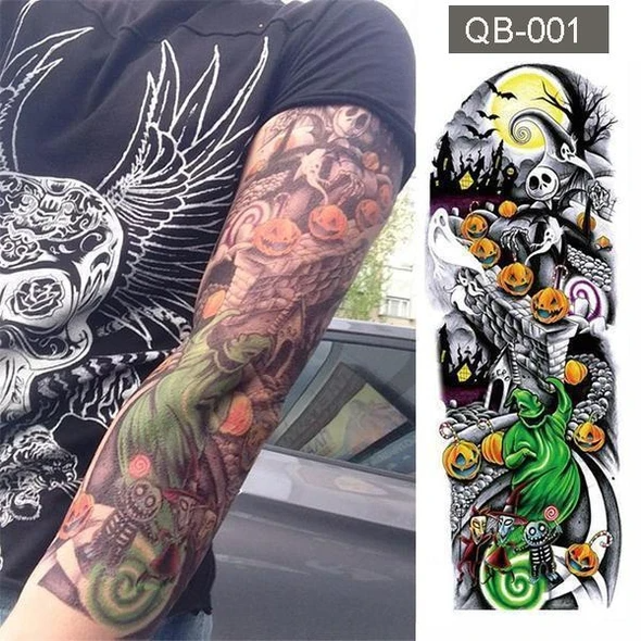 Waterproof Temporary Tattoo Body Stickers For Man Women Kids-(Styles-Lion,Flower,Skull,Etc.)