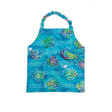 Child Cotton Apron - Blue Batik