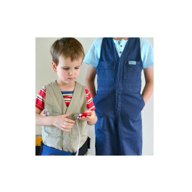Work Overalls - Blue, Khaki and Pink