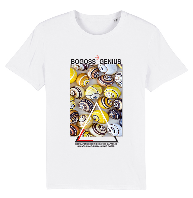 Escargots t-shirt Blanc Bio - bogossgenius