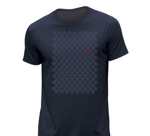 Tshirt Blue Navy Stars - bogossgenius