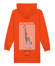 Charger l'image dans la galerie, Robe sweat capuche Orange animal girafe-bogossgenius design - bogossgenius