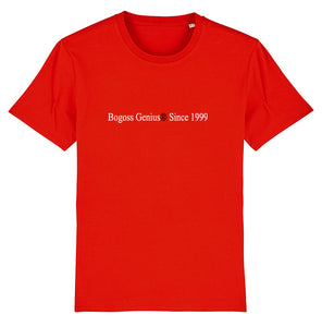 bogossgenius® since 1999 t-shirt rouge - bogossgenius