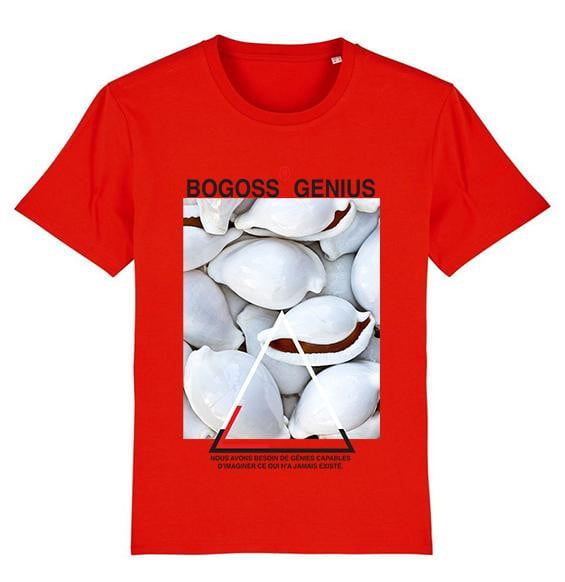 Coquillage cauris t-shirt rouge - bogossgenius