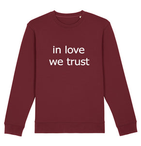 In love we trust sweat imprimé blanc - bogossgenius