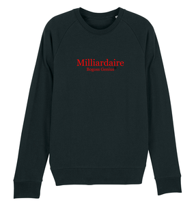 Sweat-shirt noir col rond-Milliardaire - bogossgenius