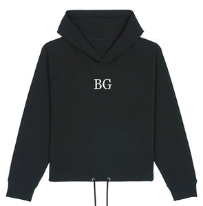 Sweat-shirt noir court femme BG - bogossgenius