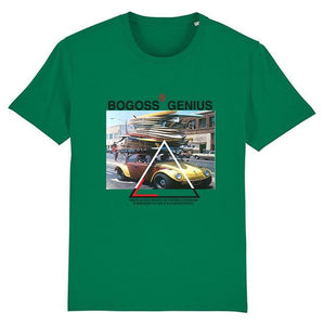 T-shirt green varsity surf style - bogossgenius